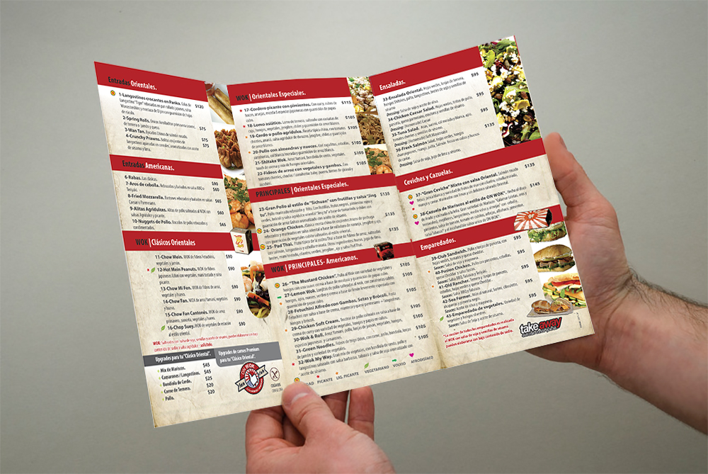 dise;o folleto delivery menu
